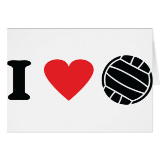 I love volleyball greeting cards