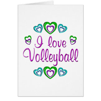 I Love Volleyball Card