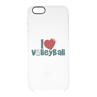 I Love Volleyball Clear iPhone 6/6S Case