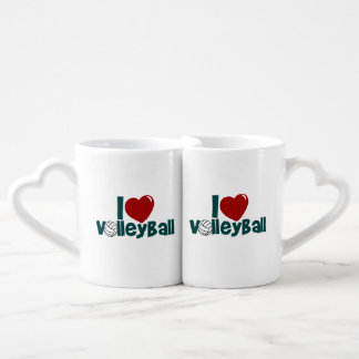 I Love Volleyball Coffee Mug Set