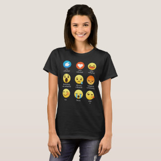 I Love VOLLEYBALL Emoticon (emoji) Social Icon Say T-Shirt