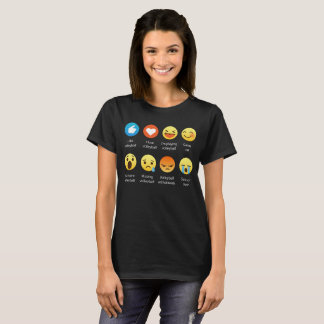 I Love VOLLEYBALL Emoticon (emoji) Social Sayings T-Shirt