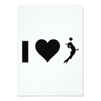I Love Volleyball (Female) Card