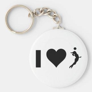 I Love Volleyball (Female) Keychain