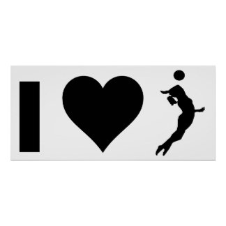 I Love Volleyball (Female) Poster