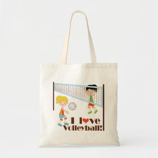 I Love Volleyball Gift Tote Bag