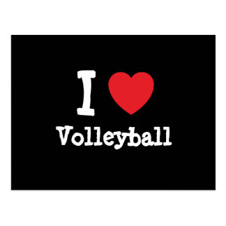 I love Volleyball heart custom personalized Post Card