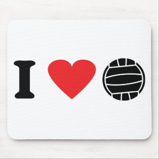 I love volleyball icon mouse pad