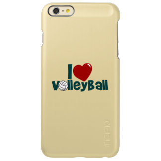 I Love Volleyball Incipio Feather Shine iPhone 6 Plus Case