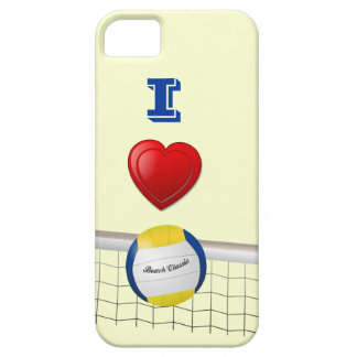 I LOVE  VOLLEYBALL iPhone 5 Case