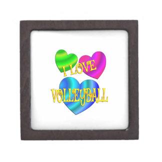I Love Volleyball Jewelry Box