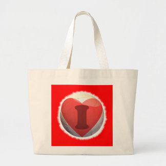 I love volleyball large tote bag