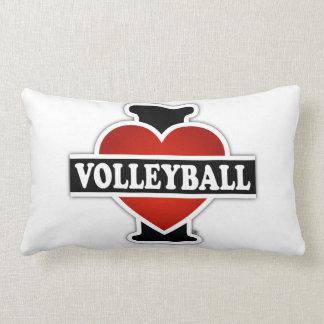 I Love Volleyball Lumbar Pillow