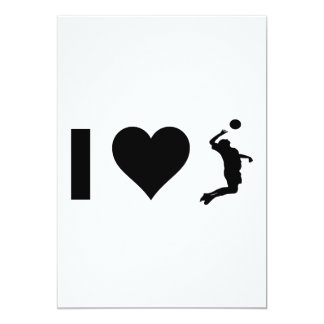 I Love Volleyball (Male) Card