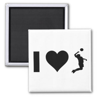 I Love Volleyball (Male) Magnet