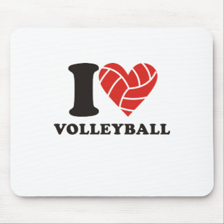 I love volleyball mouse pad