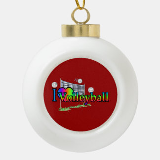 I Love Volleyball Ornaments