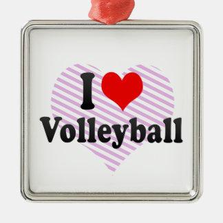 I love Volleyball Christmas Tree Ornaments