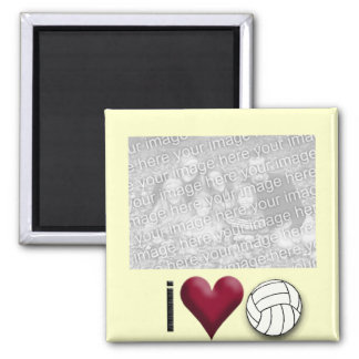 i love volleyball PHOTO MAGNET