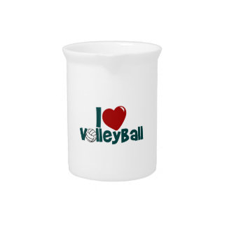 I Love Volleyball Pitcher