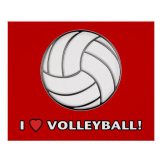 I Love Volleyball! Poster