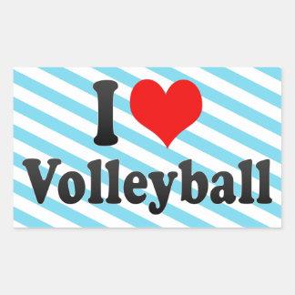 I love Volleyball Rectangular Sticker