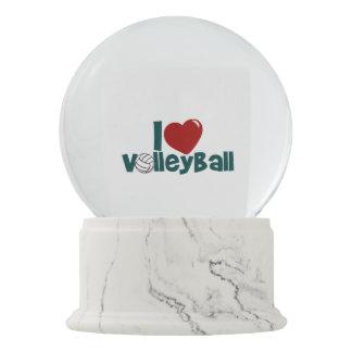 I Love Volleyball Snow Globe