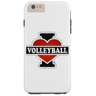 I Love Volleyball Tough iPhone 6 Plus Case