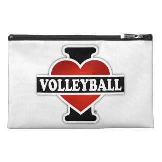 I Love Volleyball Travel Accessory Bags