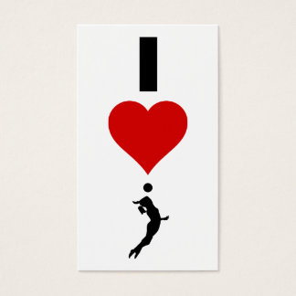 I Love Volleyball Vertical (Female) Business Card