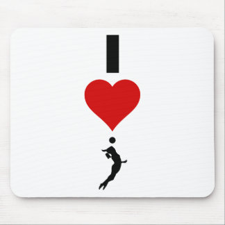 I Love Volleyball Vertical (Female) Mouse Pad