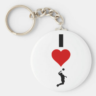 I Love Volleyball Vertical (Male) Keychain