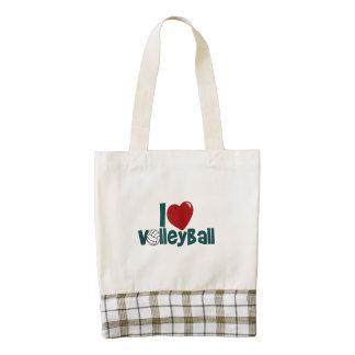 I Love Volleyball Zazzle HEART Tote Bag