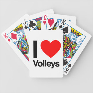 i love volleys bicycle card deck