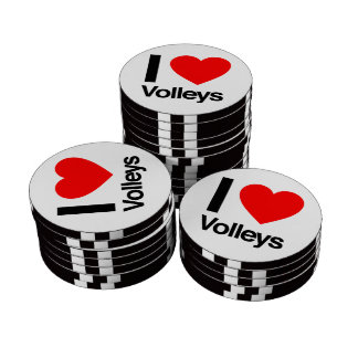 i love volleys poker chips set