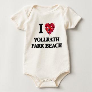 I love Vollrath Park Beach Wisconsin Baby Bodysuit