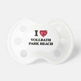 I love Vollrath Park Beach Wisconsin BooginHead Pacifier