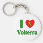 I Love Volterra Italy Keychain
