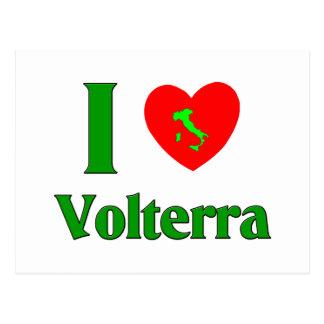 I Love Volterra Italy Postcard
