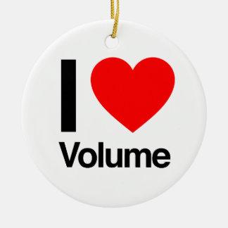 i love volume christmas tree ornaments