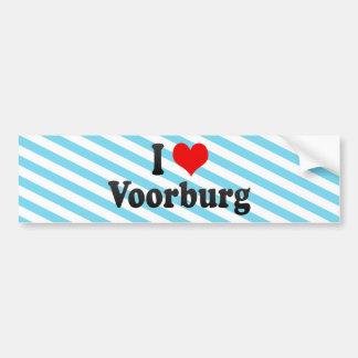 I Love Voorburg, Netherlands Car Bumper Sticker