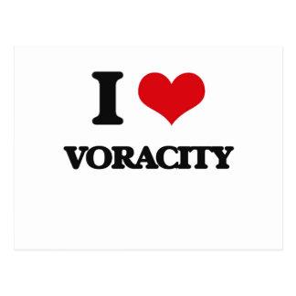 I love Voracity Postcard