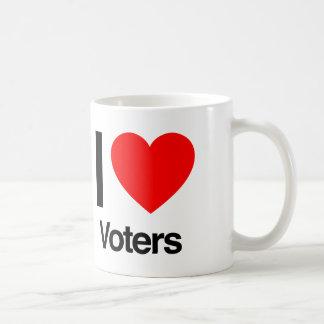 i love voters mug
