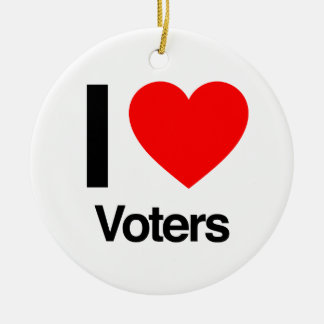 i love voters ornaments