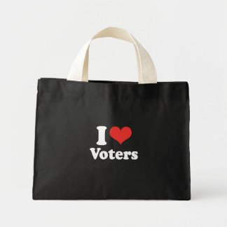 I LOVE VOTERS - .png Canvas Bags