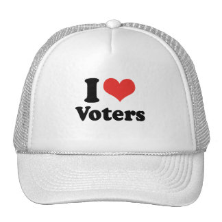 I LOVE VOTERS - .png Trucker Hat
