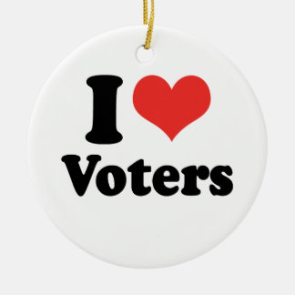 I LOVE VOTERS - .png Christmas Tree Ornament