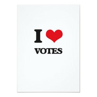 I love Votes 5x7 Paper Invitation Card