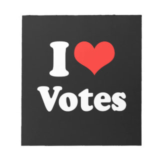 I LOVE VOTES png Notepad