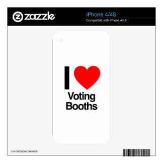 i love voting booths decal for iPhone 4